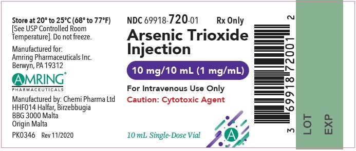 Arsenic trioxide Injection 1 mg/mL, 10 x 10 mL Ampules Carton, Part 1 of 2