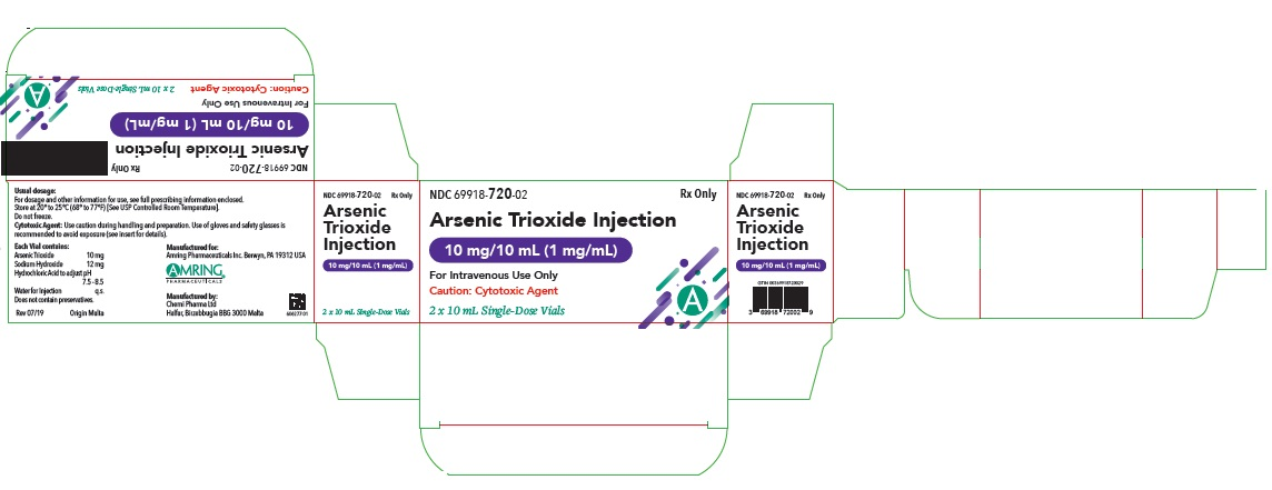 Arsenic trioxide Injection 1 mg/mL, 10 x 10 mL Ampules Carton, Part 2 of 2