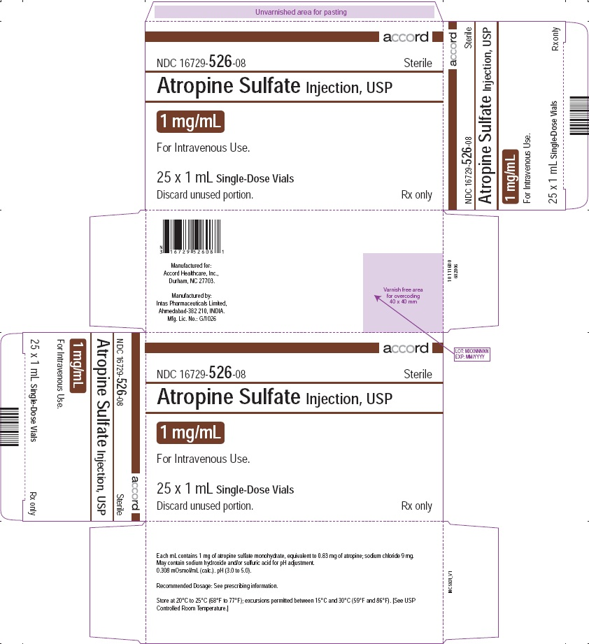 PRINCIPAL DISPLAY PANEL - Atropine Sulfate Injection, USP 1 mg/mL 25 Vials Carton