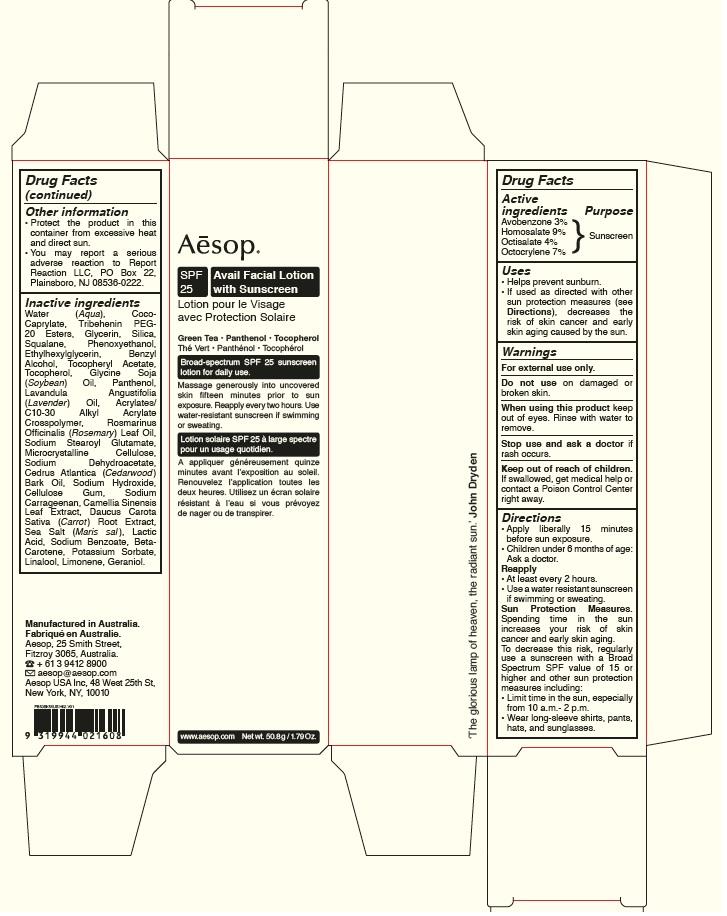 Avail Facial Sunscreen Spf 25   Homosalate, Octocrylene, Octisalate, Avobenzone Lotion while Breastfeeding