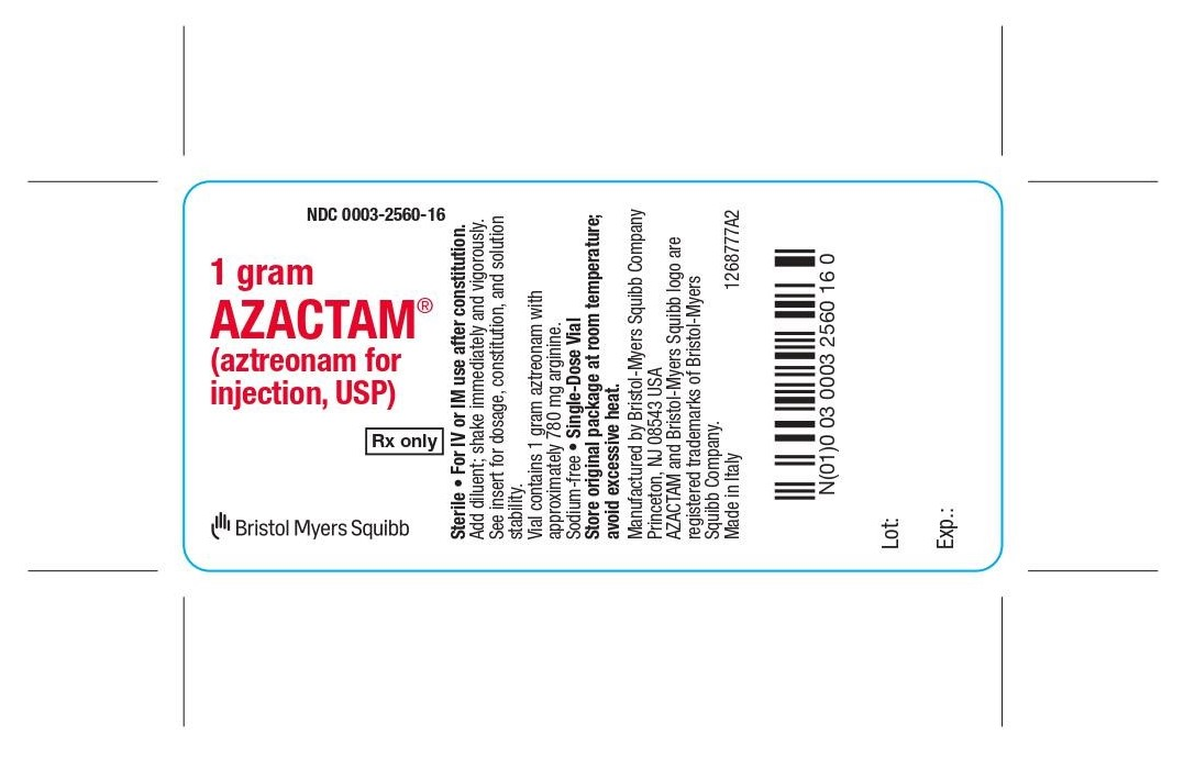 aztreonam 1 gram vial label