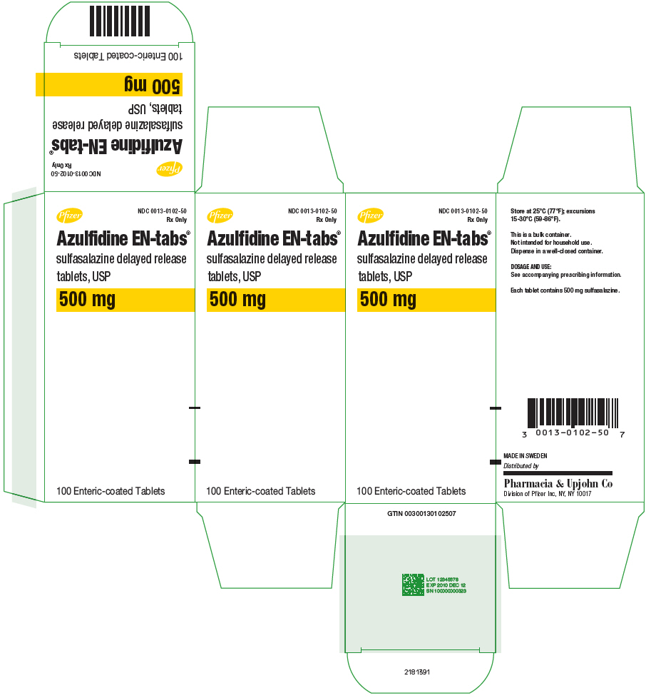 PRINCIPAL DISPLAY PANEL - 500 mg Tablet Bottle Label - NDC 0013-0102-50
