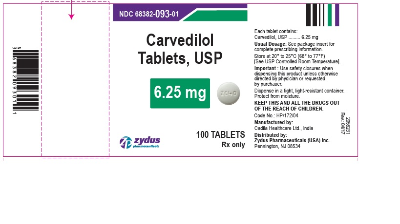 Carvedilol Tablets, 6.25 mg
