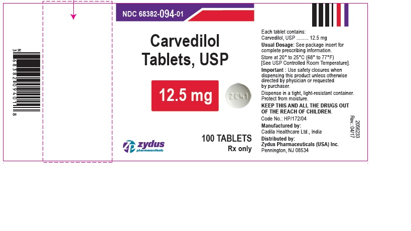 Carvedilol Tablets, 12.5 mg