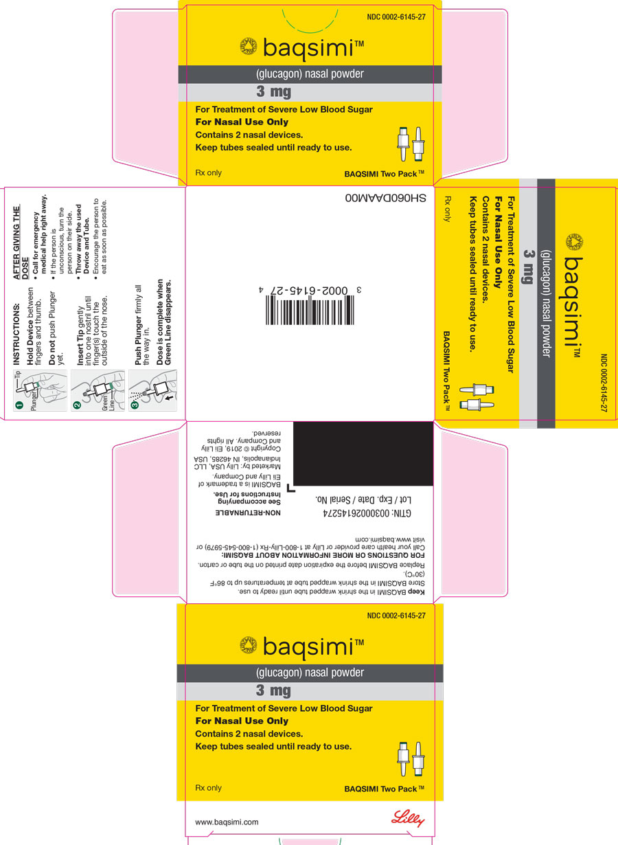 PACKAGE LABEL – Baqsimi 3 mg Nasal Powder Two Pack