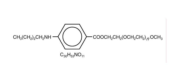 Structure forluma for Benzonatate