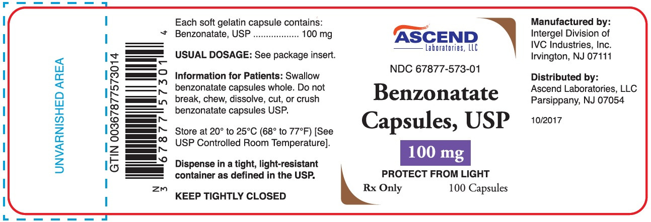 Bottle Label - 100mg - 100 capsules
