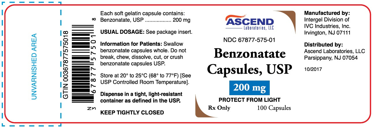 Bottle Label - 200mg - 100 capsules