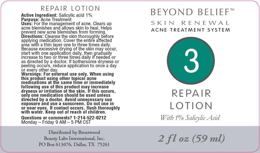 Beyond Belief Acne Treatment System Repair | Salicylic Acid Lotion Breastfeeding