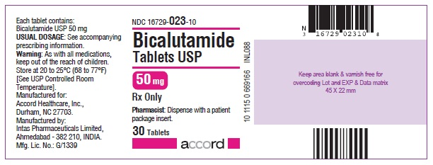 Bicalutamide 50mg - 30 tablet count bottle label
