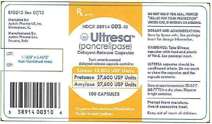 Lipase 13,800 USP Bottle