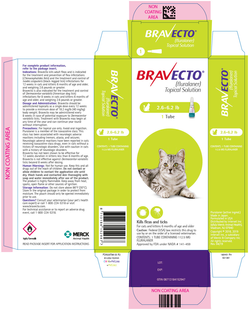 Bravecto Fluralaner Topical Solution For Cats