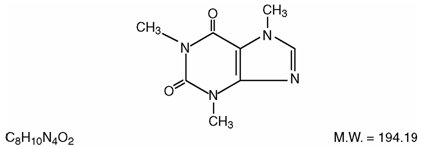 This is an image of the structural formula of Caffeine.