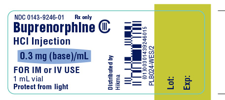 Buprenorphine HCl Injection 0.3 mg (base)/mL Container Label