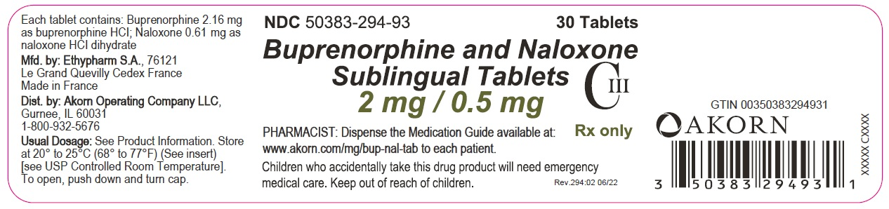 2 mg/0.5 mg 30-count Bottle Label
