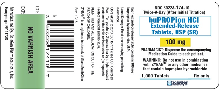 bupropion HCL 100 mg 1,000 Extended-Release Tablet, USP Label