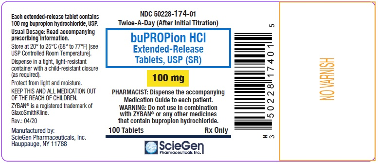 bupropion HCL 100 mg 100 Extended-Release Tablet, USP Label