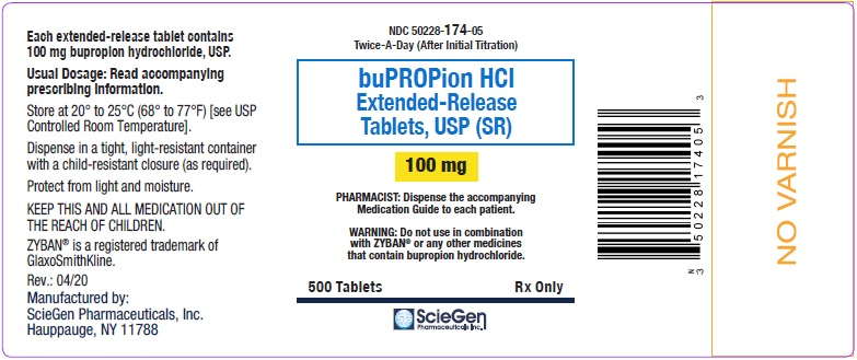 bupropion HCL 100 mg 500 Extended-Release Tablet, USP Label