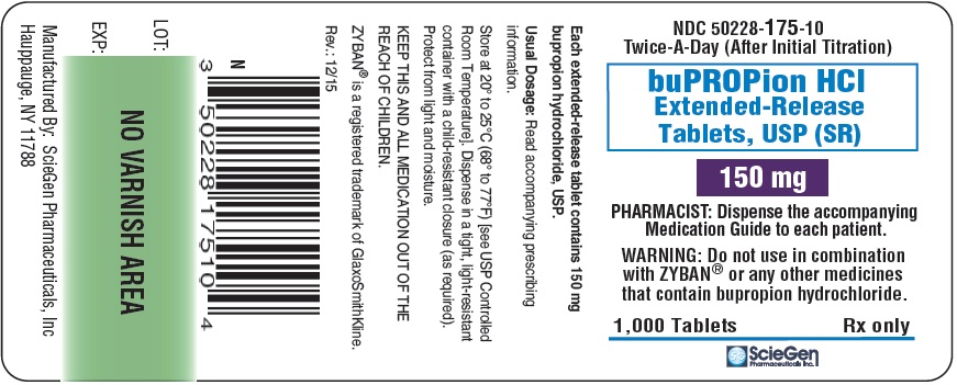 bupropion HCL 150 mg 1,000 Extended-Release Tablet, USP Label