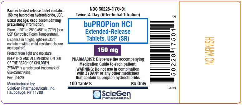 bupropion HCL 150 mg 100 Extended-Release Tablet, USP Label