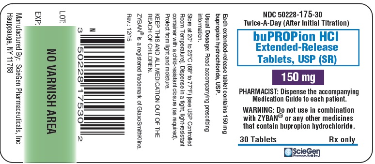 bupropion HCL 150 mg 30 Extended-Release Tablet, USP Label