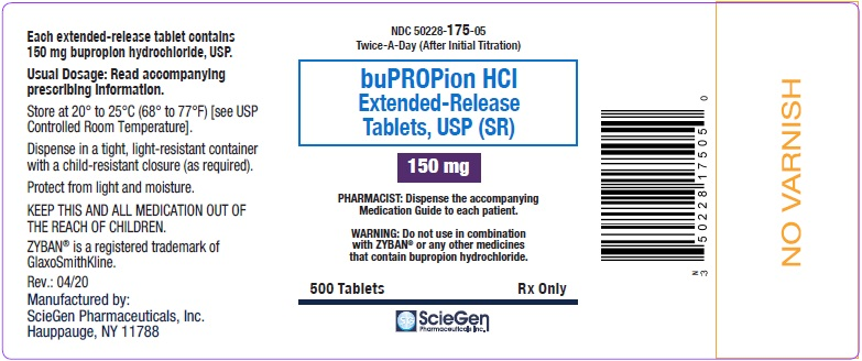 bupropion HCL 150 mg 500 Extended-Release Tablet, USP Label