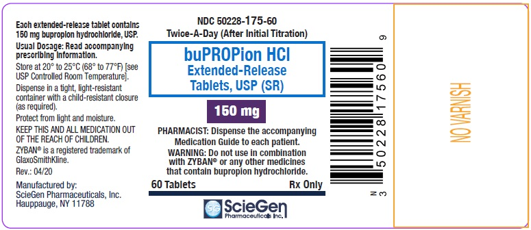 bupropion HCL 150 mg 60 Extended-Release Tablet, USP Label