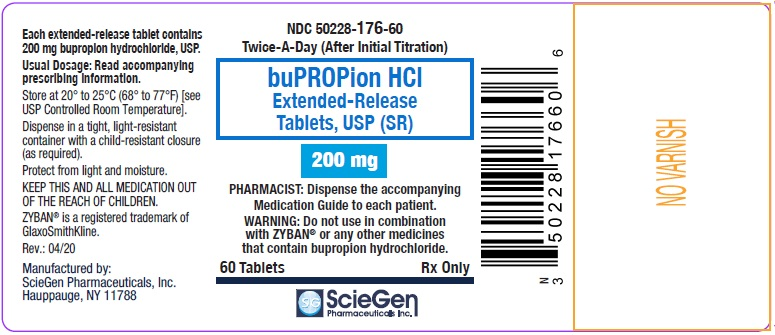 bupropion HCL 200 mg 60 Extended-Release Tablet, USP Label