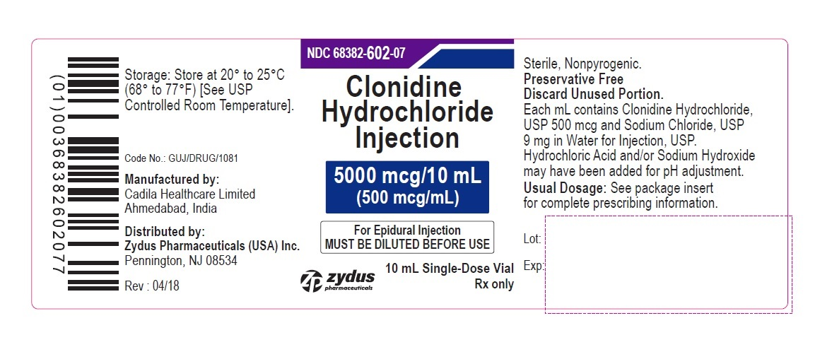 Clonidine Hydrochloride Injection 0.5 mg/mL, Vial Label