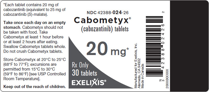 image of bottle label - 20 mg - 30 tablets