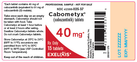 image of bottle label - professional sample - 40 mg - 15 tablets