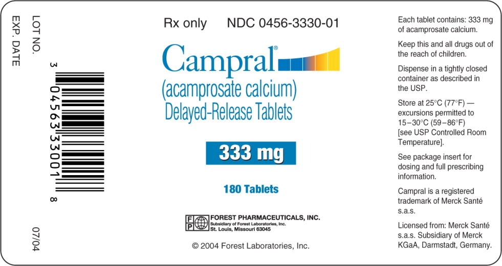 PACKAGE LABEL - PRINCIPAL DISPLAY PANEL - 333 MG LABEL