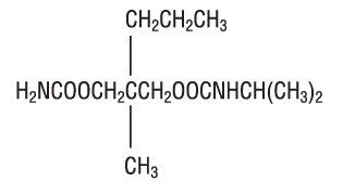 This in an image of the structural formula of carisoprodol.