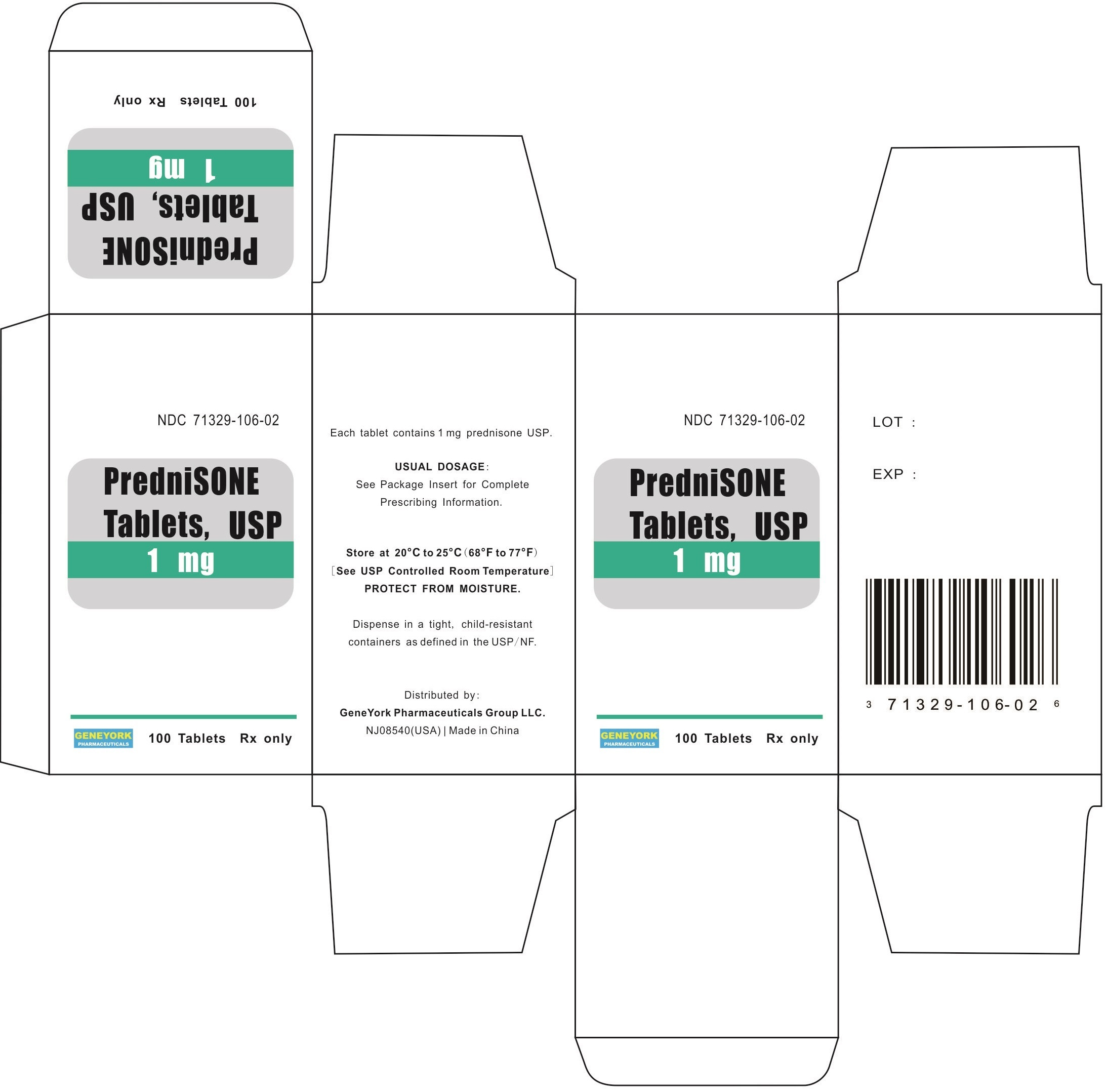 100 Tablets Carton Label