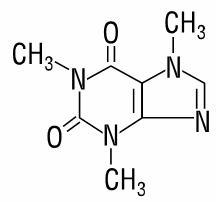 image of chemical structure for caffeine
