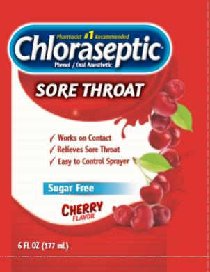 Chloraseptic® Phenol/Oral Anesthetic CHERRY Flavor 6 FL OZ (177 mL)