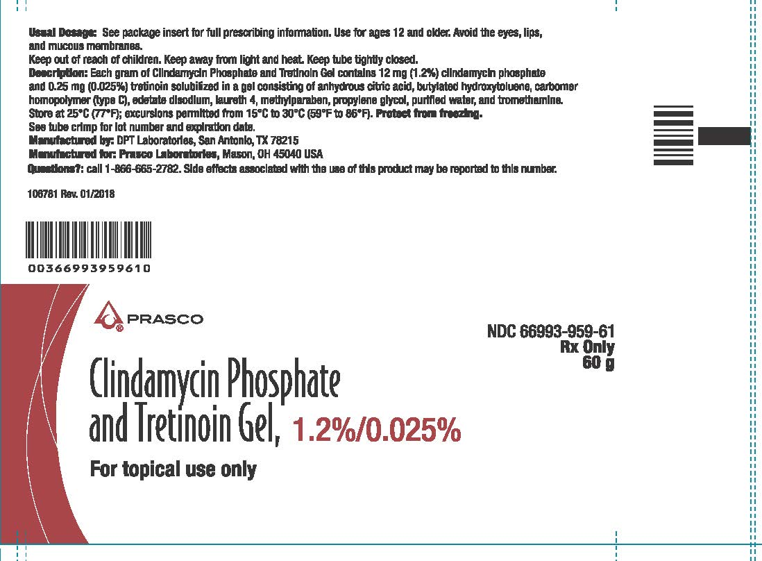 Clindamycin and Tretinoin gel 60g tube