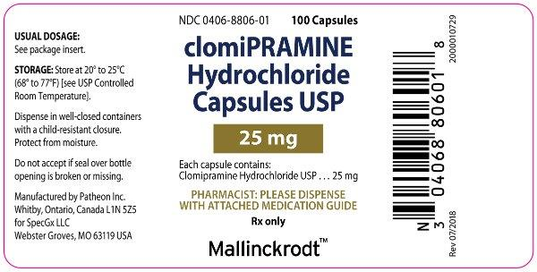 PACKAGE LABEL - PRINCIPAL DISPLAY PANEL - 25 mg Bottle