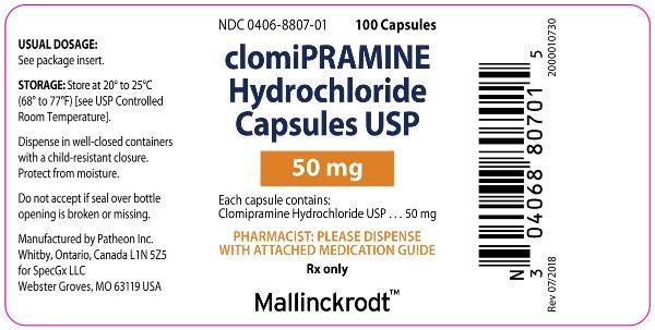 PACKAGE LABEL - PRINCIPAL DISPLAY PANEL - 50 mg Bottle