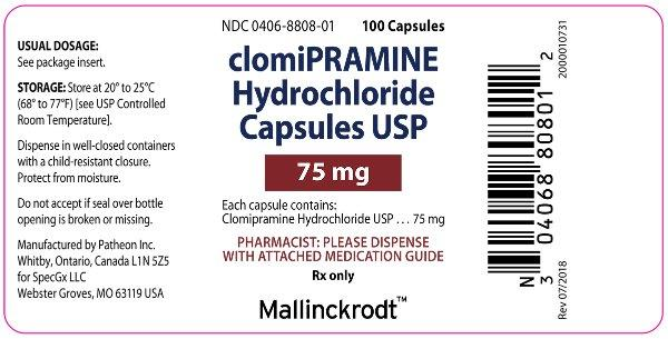 PACKAGE LABEL - PRINCIPAL DISPLAY PANEL - 75 mg Bottle