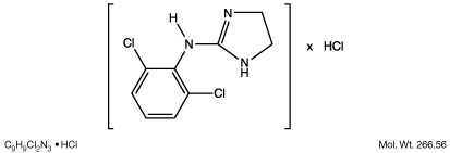 This is an image of the structural formula for clonidine hydrochloride.