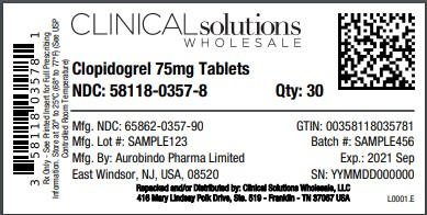 Clopidogrel 75mg tablet 30 count blister card