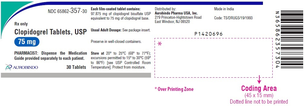 PACKAGE LABEL-PRINCIPAL DISPLAY PANEL - 75 mg (30 Tablets Bottle)