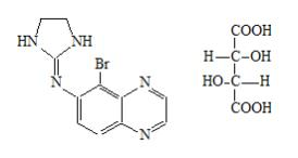 The structural formulae are: Brimonidine tartrate: