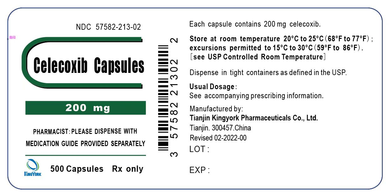 Celecoxib Capsules 200 mg 500 Capsules Bottle Label