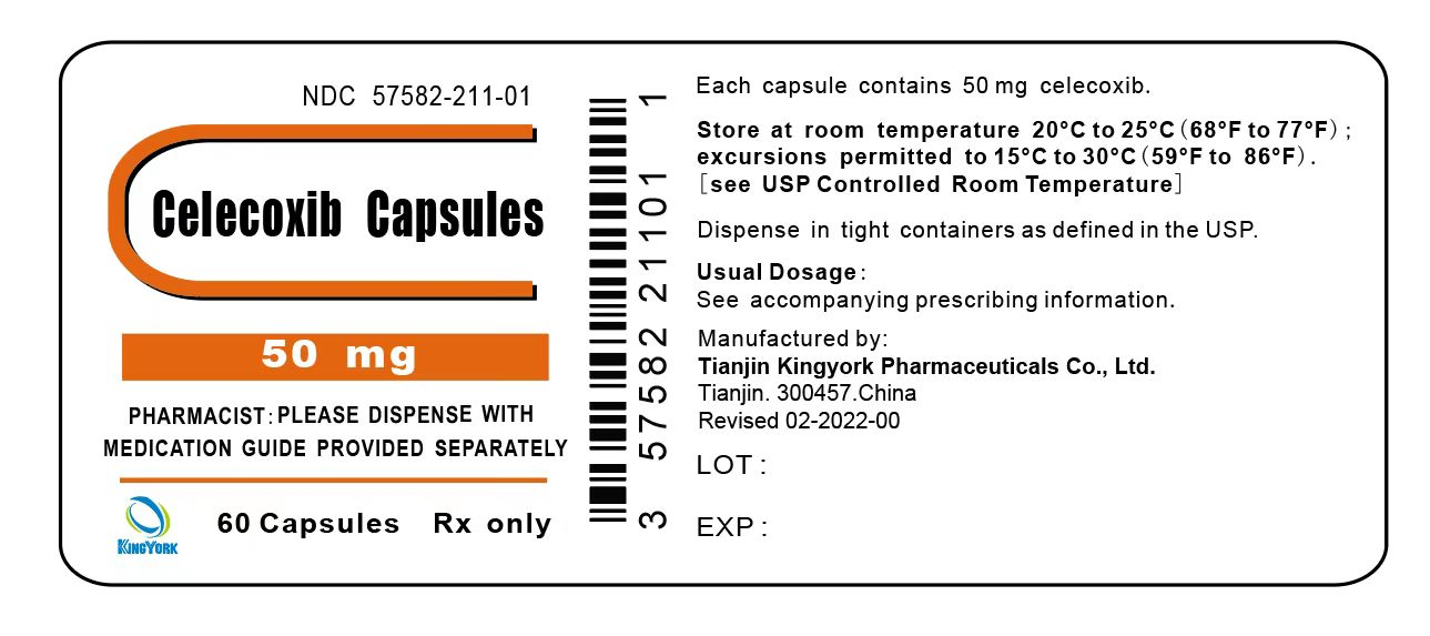 Celecoxib Capsules 50 mg 60 Capsules Bottle Label