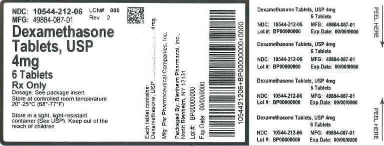 Label Graphic-4 mg 6 tablets