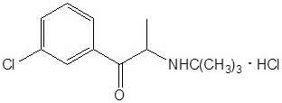 Bupropion Hydrochloride Chemical Structure