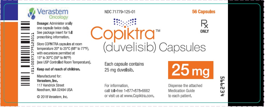 25 mg Capsule 56-count Bottle Label
