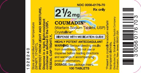 COUMADIN 2.5 mg 100 Tablets